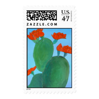 Prickly Pear in Bloom Postage