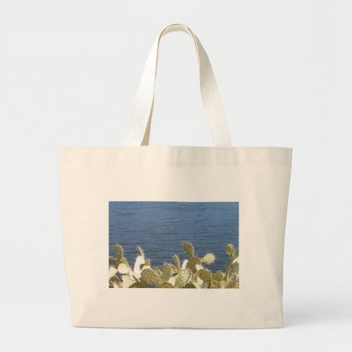 Prickly Pear on the Lake Canvas Bag