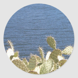 Prickly Pear on the Lake Classic Round Sticker