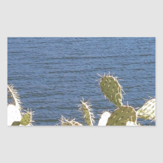 Prickly Pear on the Lake Rectangular Sticker