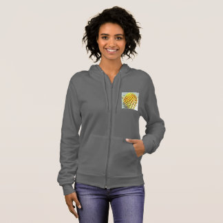 Prickly Pear Paddle Cactus Women's Fleece Jacket