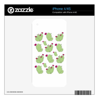 Prickly Pear Pattern Decals For iPhone 4S