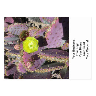 Prickly Pear Purple Yellow Large Business Card