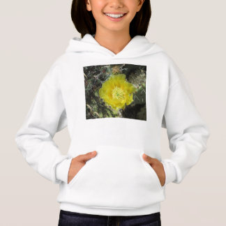 Prickly Pear Yellow Bloom Close Hoodie