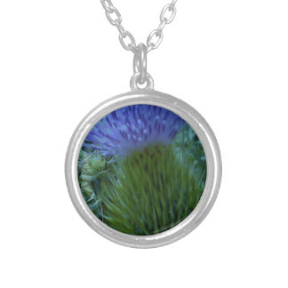 Prickly Pine Silver Plated Necklace