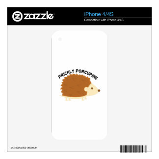 Prickly Porcupine Decal For The iPhone 4