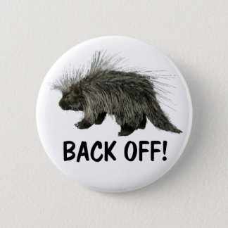 Prickly Porky Pinback Button
