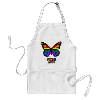 Pride 2011 butterfly adult apron