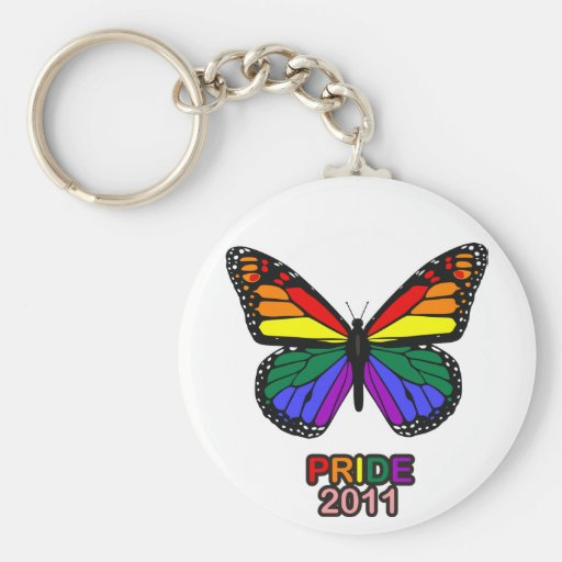 Pride 2011 butterfly keychains