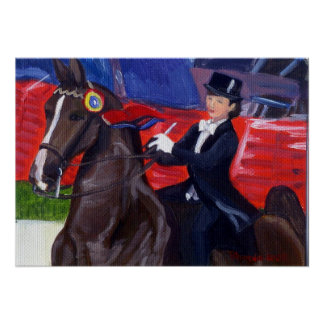 Pride And Joy American Saddlebred Horse Portrait Poster