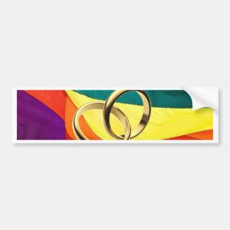 Pride and Marriage Bumper Sticker