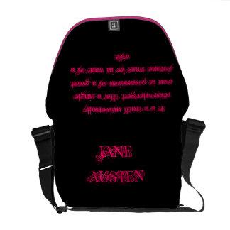 Pride and predjudice messenger bag