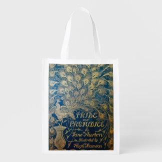 Pride and Prejudice 2-sided Reusable Bag Reusable Grocery Bags