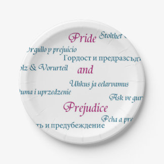 Pride and Prejudice around the world. Paper Plate