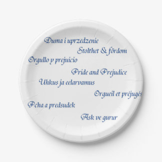Pride and Prejudice around the world Paper Plate