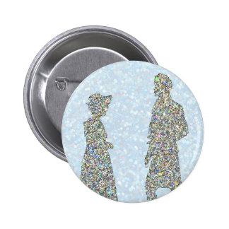 Pride and Prejudice Christmas 6 Cm Round Badge