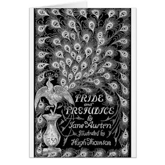 Pride and Prejudice Classic Cover with Peacock Card