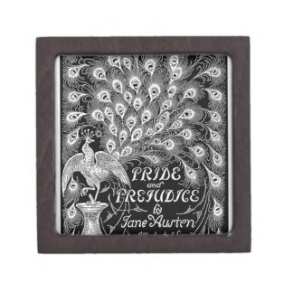 Pride and Prejudice Classic Cover with Peacock Jewelry Box