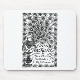 Pride and Prejudice Classic Cover with Peacock Mouse Pad