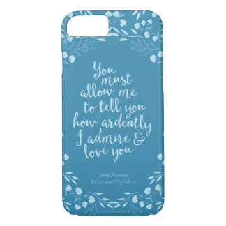 Pride and Prejudice Floral Love Quote iPhone 7 Case
