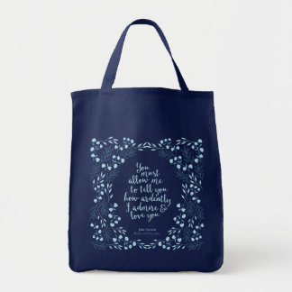 Pride and Prejudice Floral Love Tote Bag