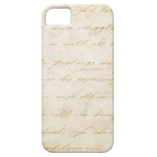 Pride and prejudice handwriting archival iPhone SE/5/5s case