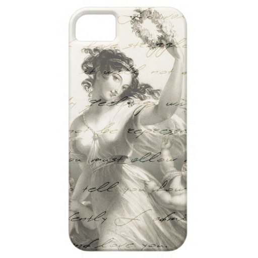 Pride and prejudice handwriting victorian iPhone 5 case