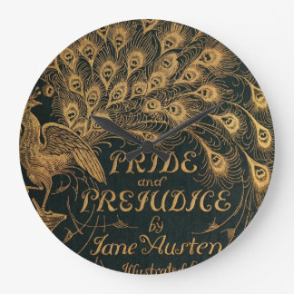 Pride and Prejudice Jane Austen (1894) Large Clock