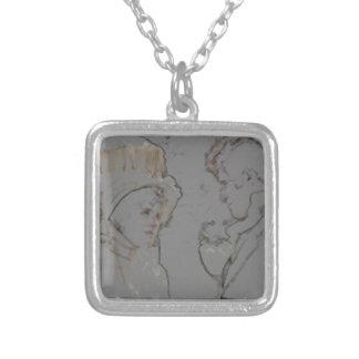 Pride and Prejudice Square Pendant Necklace