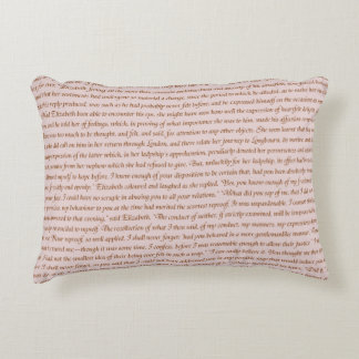 Pride and Prejudice Quote Accent Pillow