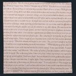 "Pride and Prejudice Quote Cloth Napkin<br><div class=""desc"">Mr Darcy's second proposal,  from Jane Austen's Pride and Prejudice.</div>"
