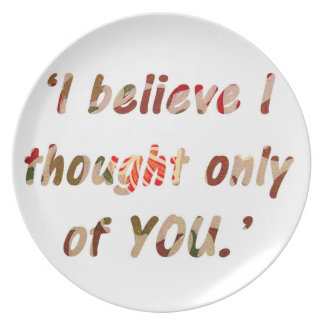 Pride and Prejudice Quote Dinner Plate