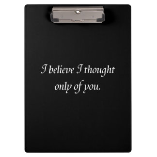 Pride and Prejudice Quote double-sided Clipboard