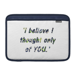 Pride and Prejudice Quote Double-Sided MacBook Sleeve