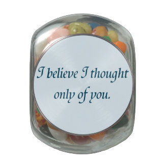 Pride and Prejudice Quote Glass Candy Jar