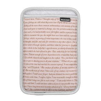 Pride and Prejudice Quote iPad Mini Sleeve