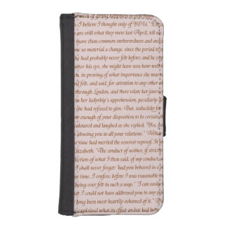 Pride and Prejudice Quote iPhone 5 Wallets