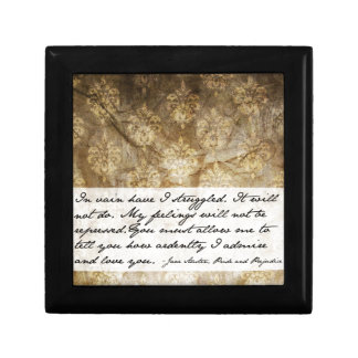 Pride and Prejudice Quote Jewelry Box