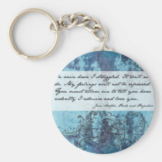 Pride and Prejudice Quote Basic Round Button Keychain