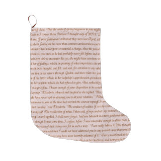 Pride and Prejudice Quote Large Christmas Stocking