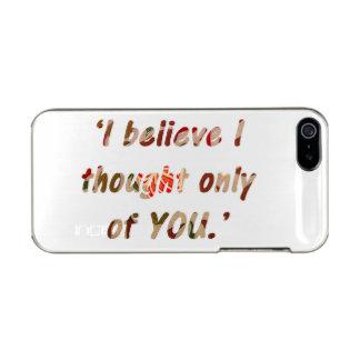 Pride and Prejudice Quote Metallic iPhone SE/5/5s Case