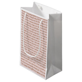 Pride and Prejudice Quote Small Gift Bag