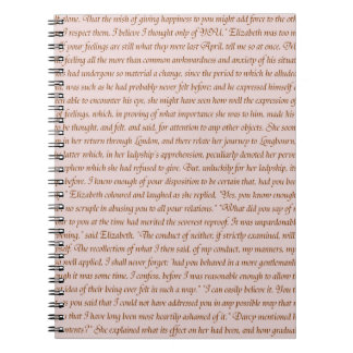 Pride and Prejudice Quote Spiral Notebook
