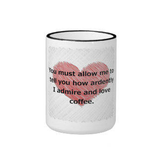 Pride and Prejudice Ringer Mug