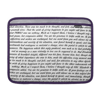 Pride and Prejudice Text Double-Sided MacBook Air Sleeve