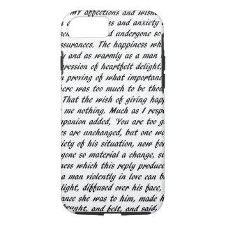 Pride and Prejudice Text iPhone 7 Case