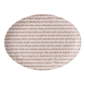 Pride and Prejudice Text Porcelain Serving Platter