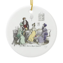 Pride and Prejudice - The Netherfield Ball Invitat Ceramic Ornament