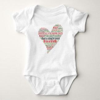 Pride and Prejudice Word Cloud Baby Bodysuit