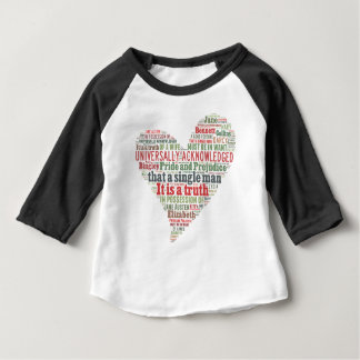 Pride and Prejudice Word Cloud Baby T-Shirt